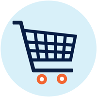 Image of shopping cart.